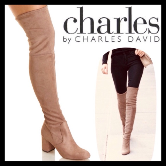 be2d2fc1e3bdf Charles David Owen Over The Knee Boots